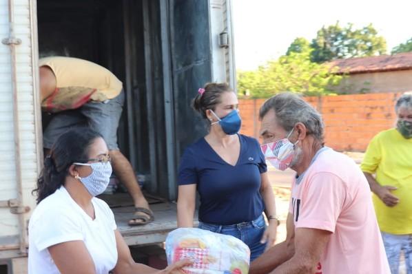 Prefeitura de Amarante já distribuiu mais de mil cestas básicas durante a pandemia.